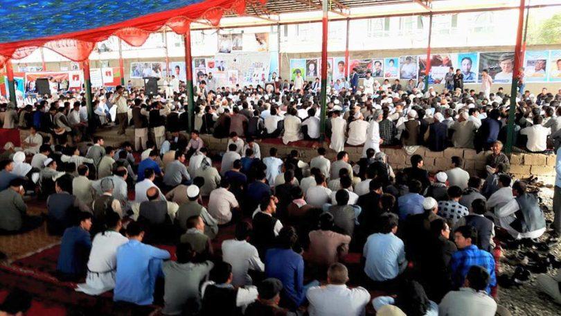 مراسم فاتحهی شهدای جنبش روشنایی با حضور گستردهی مردم برگزار شد