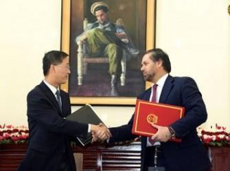 امضای تفاهمنامه دو میلیون ینی میان افغانستان و چین