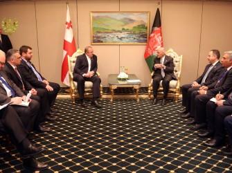 محور گفتگوهای روسای جمهور افغانستان و گرجستان