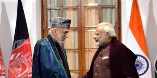 امنیت افغانستان، محور گفتگوی حامد کرزى و نخست وزير هند