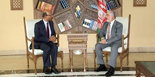 انتخابات و مذاکرات صلح؛ محور دیدار عبدالله و سفیر هند