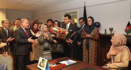 یک زن ۲۶ ساله در وزارت داخله افغانستان معین تعیین شد