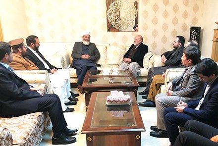 تعهد رهبر جماعت اسلامی پاکستان برای همکاری در روند صلح افغانستان