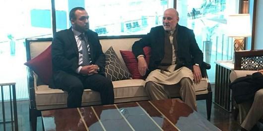 رییسدارالانشای شورای صلح افغانستان وارد پاکستان شد
