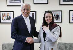 زلمی خلیلزاد با سفیر افغانستان در واشنگتن دیدار نمود