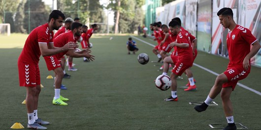 آغاز تمرینات تیم ملی فوتبال افغانستان در تاجیکستان